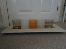Wooden Shelf with 5 Glass Pot's