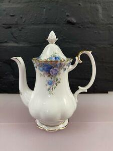 "Royal Albert Moonlight Rose Coffee Pot 8"" High New 2nd Quality"
