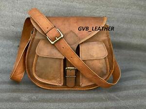 Vintage Outdoor Women Genuine Leather Handbag Shoulder Satchel Messenger Bag