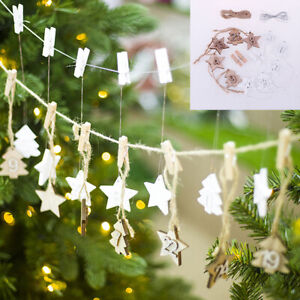 1-24 Wooden Christmas Advent Calendar Gift Tags Number Home Party Decorati^dm