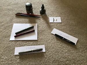 VINTAGE CONKLIN Ink O Graph Esterbrook Fountain pens Strip Higgins Ink Lot L@@k