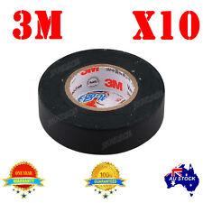 10PCs 20 Meters 3M Premier Grade Black Electrical Tape for Car Stereo Speaker OZ