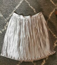 Glamorous Curve Size 24 Silver Pleated Skirt
