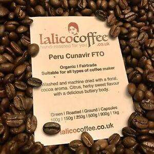 Peru Organic Fair Trade Fresh Hand Roasted 100% Arabica Coffee Beans / Grounds