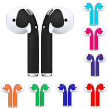DI- Solid Color Self-adhesive Sticker Skin Decals for Apple AirPods Ear Buds Tre