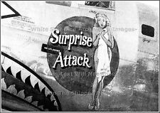 Photo: Nose Art: B-24-M Bomber Surprise Attack: Original View, 1945