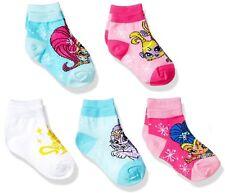 Nickelodeon Girl's Shimmer and Shine Tala Nahal Twins Genies 5pk No Show Socks
