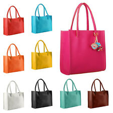 Elegant Handbags Women Leather Shoulder Bag Candy Color Flowers Tote Bag UK