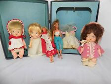 "BABY Doll Lot of 6 ITEMS Vintage 4"" - 4.5"" BIG EYES KID"