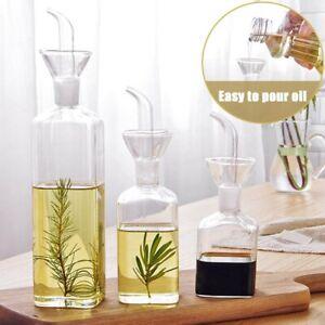 Oil Dispenser Glass Olive Oil Vinegar Bottle Soy Sauce Spout Pourer Bbq-