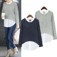 Women Baggy Long Sleeve Pullover T-Shirt Jumper Shirt Top Blouse Sweat Plus Size