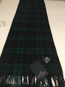 The House of Balmoral Black Watch Tartan Lambswool Scarf Superior Quality Warm