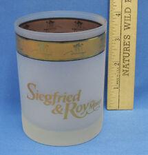 Siegfried & Roy At Mirage Casino Tumbler Glass Las Vegas Souvenir Frosted Gold