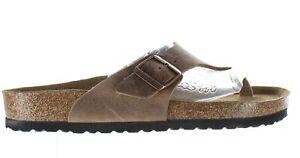 Birkenstock Mens Como Camberra Tobacco Oiled Leather Flip Flops EUR 43 (1409895)