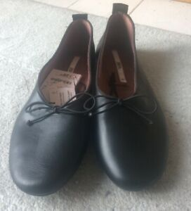ZARA BLACK BALLET FLAT SHOES UK 8 NEW WITH TAGS.