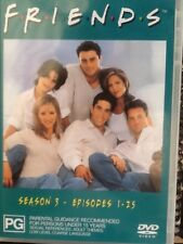 FRIENDS SEASON 3 EPISODES 1-25  - 3 DISC SET -  DVD # 0512