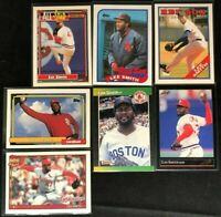 Lee Smith - 7 Cards, 1988-1992 Topps, Donruss, Leaf - Red Sox, Cardinals - HOF