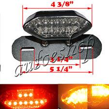 Motorcycle Bike LED Stop Tail Turn Signal Brake License Plate Integrated Light