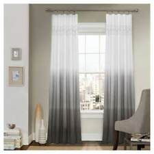 Vue Signature Arashi Gray Ombre Embroidery Curtain Panel 52 x 95 new 88530836450