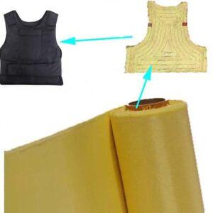 TESSUTO Aramide fibra di KEVLAR 240 g/m² plain - 1 mq per giubbotto antiproietti
