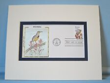 State Bird & Flower of Wyoming - West Meadowlark & Paintbrush & First Day Cover