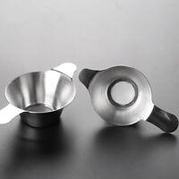 Home Leaf Teaware Kungfu Stainless Steel Fine Mesh Tea Strainer Funnel Filter