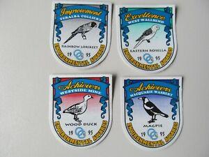 Coal Mining Stickers, Enviromental Awards, 4 off, 1995
