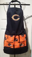 New listing Chicago Bears -Bbq Kitchen Apron - Hand Made to Order - Embroidered - Unisex -