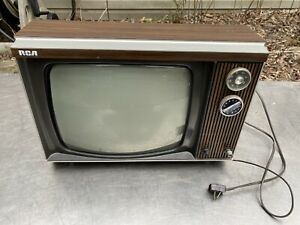 Vtg Rca 1980s 1970s Gaming Tv Television Modern Swag Retro wood grain As-120w