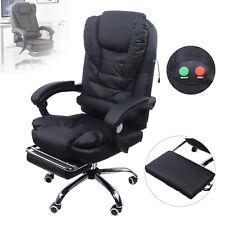 Reclining Pu Leather Massage Office Computer Swivel Chair Massage High Back