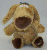 "12"" Plush Dog in Striped Train Engineer Cap Stuffed Animal by Sandra Boynton"