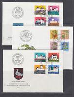 Switzerland Sc B439-B478 FDC. 1976-80 semi postals, 10 cplt sets on 10 FDCs