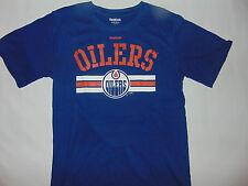 Edmonton Oilers Nhl Hockey jóvenes niños Manga corta Camisa Azul Talla  Mediana Nuevo     ad19b5b012a