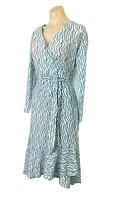 JOHANN BRUN Made In England 2/ 8-10 Dress Wrap Light Turquoise Lace Gorgeous EUC