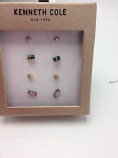 $35 KENNETH COLE NEW YORK Semiprecious Green Stone Stud Earrings 94F