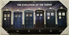 Doctor Who Evolution of the TARDIS Wooden Sign Poster