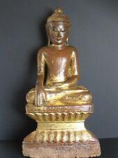 Antique Bouddha Shan Bois et Or de BIRMANIE, XIXème