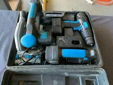 Powerglide 18v Cordless 3 Tool Set Drill Saw Jigsaw 2 Batteries Charger Case