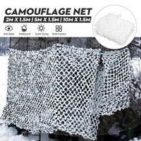 White Snow Camouflage Net Camping Garden Party Decor Photography Camo Tent