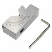 75x25x32mm Toolmaker Precision Micro Adjustable Angle V Block Milling 0° To 60