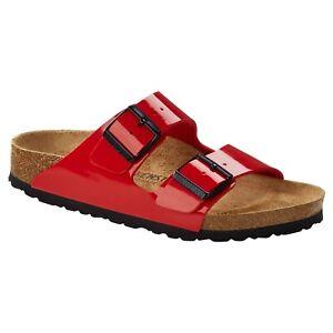 Birkenstock Arizona in Patent Cherry (Art:1019421) - Cork Sandals
