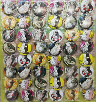 Danganronpa 4.3CM 40x LOT PIN back BADGE BUTTON NEW FOR BAG CLOTH anime
