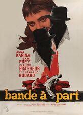 Bande à part 1964 Jean-Luc Godard New Wave Cinema cult movie poster print