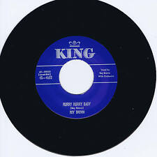 ROY BROWN - HURRY HURRY BABY / UP JUMPED THE DEVIL - KILLER R&B JIVERS - REPRO