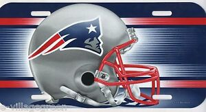 New England Patriots Football License Plate Helmet Logo NFL Plastic Super Bowl