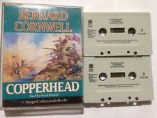 """Bernard Cornwell """"Copperhead"""" Twin Cassette Audio Book Read by David Rintoul"""