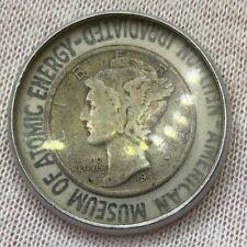 Encased 1941 Mercury Dime • Irradiated Neutron American Museum Of Atomic Energy