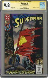 Superman #75D Direct Variant 1st Printing CGC 9.8 SS 1993 2504925002