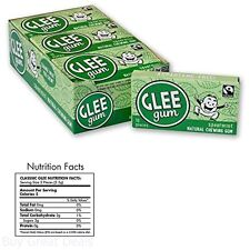 Glee Gum Spearmint 16 Piece Packages Pack of 12 All Natural Chewing Gum New