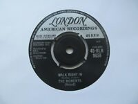 """THE MOMENTS Walk Right In UK 7"""" Single EX Cond"""